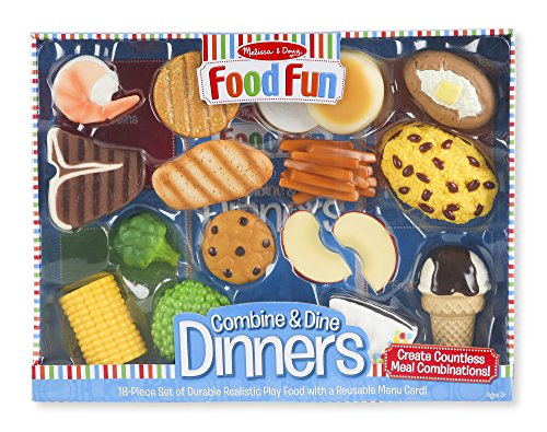 Melissa & Doug Food Fun Combine & Dine Dinners Toy, Blue (Dinner Food compare prices)