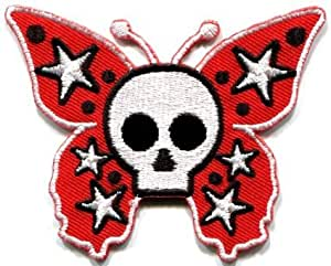 Amazon.com: Butterfly Skull-Goth Emo Punk Biker , Applique On Patch