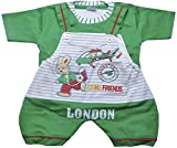 Rock Baby Boys' 6-12 Months Regular Fit Romper (1411, Green)