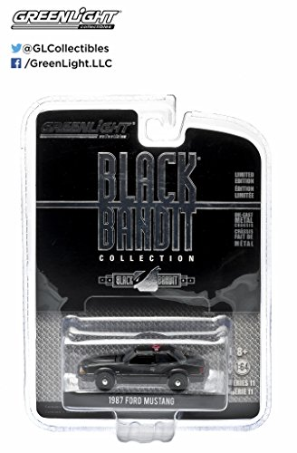 Greenlight Black Bandit: 1987 Ford Mustang SVO Police 1:64 Scale