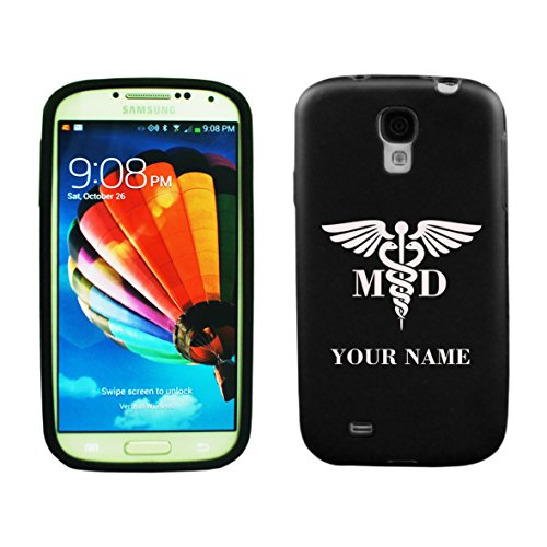 Personalized Samsung Galaxy S5 Aluminum & Silicone Case Medical Doctor - Lifetime Warranty (Black)