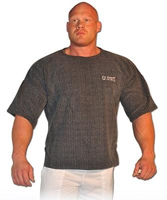 Profi-Gym-Shirt S8-1 - Farbe: dunkelgrau / Bodybuilding Shirt, Fitness T-Shirt - Ideal f. Workout im Fitness-Studio