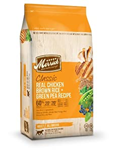 Merrick Classic 30-Pound Adult Real Chicken, Brown Rice and Green Pea Dog Food, 1 Bag