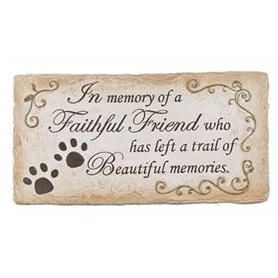 Pet Memorial Stone Flat Marker - In Memory of a Faithful Friend By Ganz ER28216