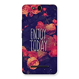Stylish Enjoy Today Multicolor Back Case Cover for Micromax Canvas Juice 3 Q392