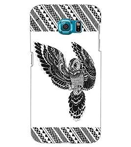 ColourCraft Owl Design Back Case Cover for SAMSUNG GALAXY S6 EDGE G925