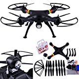 Amazingbuy - Syma X8C Venture Headless Mode RC Quadcopter Drone UAV RTF UFO with 2MP HD Camera - Newest Version - Orginal Box - 4 additional Propellers + 4GB Memory Card + Memory Card Reader + Tracking Number - Black color - With Amazingbuy LOGO