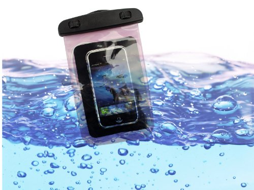 Waterproof Sport Armband Pouch Dry Bag With 3.5Mm Earphone Adapter For Samsung Galaxy S4 Iphone 5S Pink