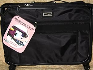 Medium Black Mascot Tutto Machine On Wheels Sewing Carrier Case from Mascot