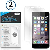 BoxWave iPhone 6 Plus ClearTouch Crystal (2-Pack) Screen Protector - Premium Quality, Ultra Crystal Clear Film Skin to Shield Against Scratches (Includes Lint Free Cleaning Cloth & Applicator Card) - iPhone 6 Plus Screen Guards and Covers