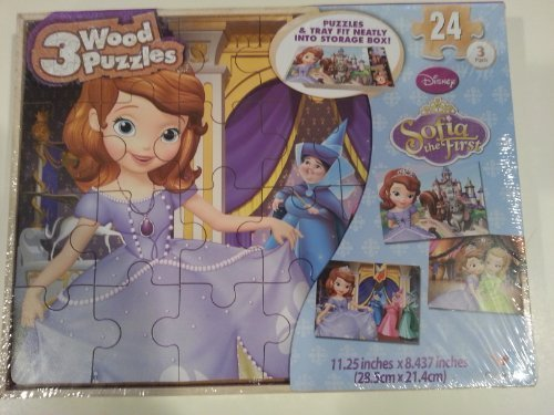 DISNEY Sofia the First 24 Piece Wooden Puzzle