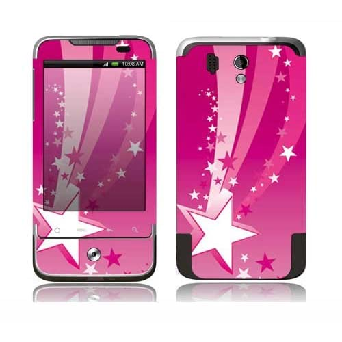 Pink Stars Design Decorative Skin Cover Decal Sticker for HTC Legend Cell Phone