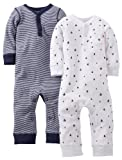 Carters Baby Boys 2 Pack Coverall Set (Baby) - Navy - 9 Months