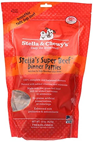 Stella & Chewy's Freeze Dried Dog Food for Adult Dogs, Beef Dinner
