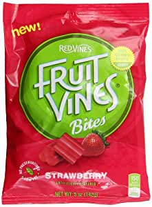 Fruit Vines Strawberry Bites Bag, 5 Ounce (Pack of 12)