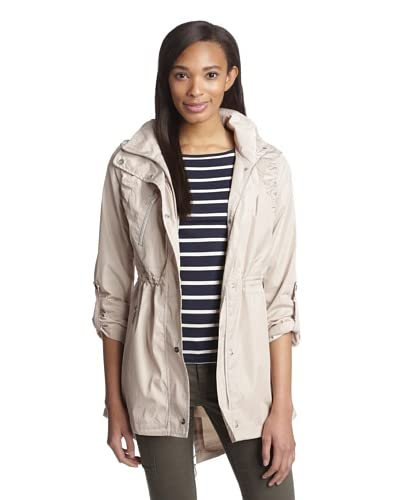 Kensie Women's Ruched Sleeve Anorak