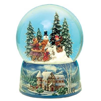 MusicBox Kingdom 48039 Snowman Snow Globe Music Box Plays The Melody Leise Rieselt der Schnee