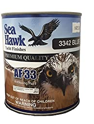 Sea Hawk Blue Bottom Paint AF33, 1 Quart