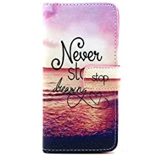 buy Apple Iphone 6/6S 4.7'' Case, Finecase Iphone 6 4.7 Inch Pu Leather Wallet Stand Case Cover With Built-In Credit Card/Id Card Slots, Flip Protective Skin Case With Magnetic Closure (Never Stop Dreaming)