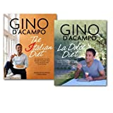 Gino D'Acampo Gino D'Acampo Diet 2 Books Collection Lose Weight the Italian Way, (La Dolce Diet: 100 Recipes and Exercises to Help You Lose Weight the Italian Way & The I Diet: 100 Healthy Italian Recipes to Help You Lose Weight & Love Food)