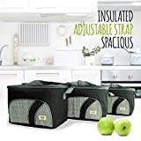 Happy To Go Adult Insulated Lunch Box Bag for Men and Women - Set of 3