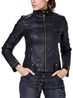 Tantra Chaqueta Solid with Zipper and Pockets (Negro)