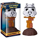 Stormtrooper Pig ~6.25 Bobble Head Figure: Angry Birds Star Wars Wacky Wobbler Series