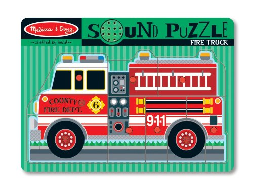 51iu5ilEqIL Cheap Buy  Melissa & Doug Fire Truck Sound Puzzle