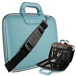 SumacLife Sky Blue Reinforced Travel Cady Shoulder Bag fits Visual Land : Premier ( 10 , 9 ), Prestige Prime 10ES , Prestie Elite 10QS 10QL , 10.1\