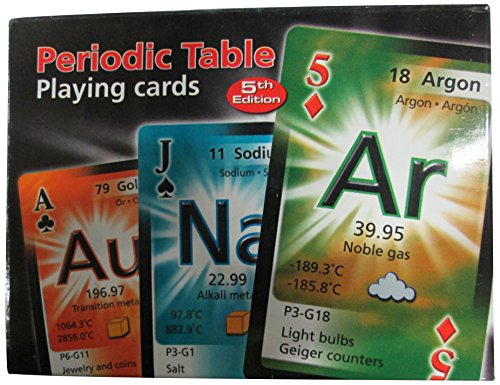 Periodic Table Playing Cards (English, Spanish and French Edition) (Chemistry Chart compare prices)