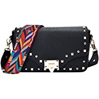 Coolwoo PU Leather Casual Shoulder Bags (Black)