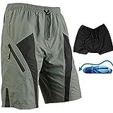 HAMSWAN® Santic Mens Mountain Loose-fit Biking Shorts Padded Coolmax Cycling MTB Short with HAMSWAN Bag