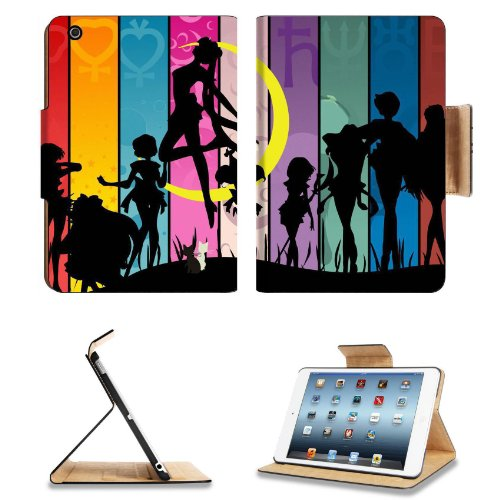 Sailor Moon Character Silhouette Apple Ipad Mini Flip Case Stand Smart Magnetic Cover Open Ports Customized Made To Order Support Ready Premium Deluxe Pu Leather 8 Inch (205Mm) X 5 1/2 Inch (140Mm) X 11/16 Inch (17Mm) Liil Ipad Mini Professional Ipadmini