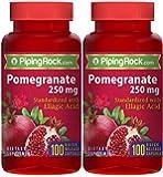 Pomegranate Extract 250 mg (Standardized) 2 Bottles x 100 Capsules