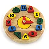 Round Tactile Wooden Clock
