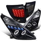 For Toyota Celica Glossy Black Projector Headlights+Led Tail Lights Dark Smoke Lens
