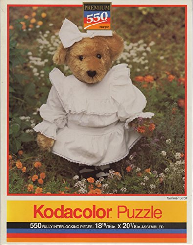 Unopened Vintage 1994 Kodacolor 550 Piece Puzzle SUMMER STROLL Bear - Jigsaw 13 x 19 Inches Casse-Tete 550 Fully Interlocking Pieces