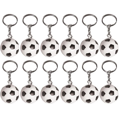 Soccer Ball Keychains 12ct - 1