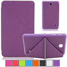 buy Tab 4 7.0 (Sm-T230) Case,Uucovers(Tm)Cross Lines Transformers Design With Smart Cover Auto Wake/Sleep Exclusive For Samsung Galaxy Tab 4 7.0 (Transformers Purple)