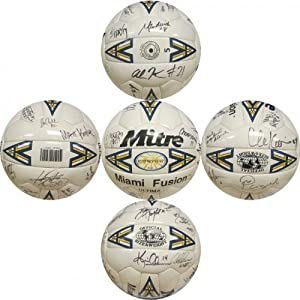 1998 Miami Fusion Autographed Mitre Miami Fusion Soccer Ball by Hollywood+Collectibles