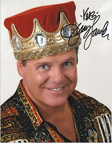 """Jerry Lawler Autographed 8"""" x 10"""" Crown Photograph with King Inscription - Fanatics Authentic Certified"""
