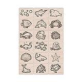 Hero Arts LL389 Ink 'n' Stamp, Sea Life (Color: Sea Life)