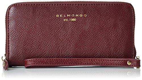 Belmondo 74024104,Portafoglio Donna, Rosso (vino), 17x 8x 2cm