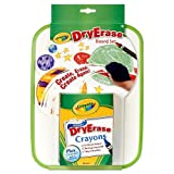 Crayola Dry Erase White & Black Board Set With Crayons