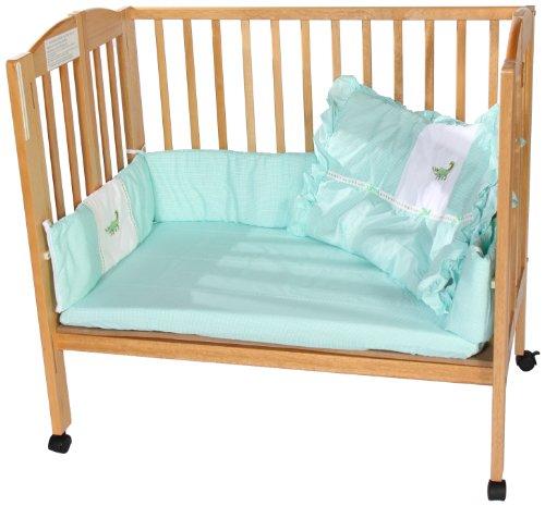 Imagen de Baby Doll Bedding guinga Applique Cuna Ropa de cama Set, Alligator
