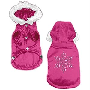 Dog Supplies Snowflake Rhinestone Coat Pink Xxxl (20)