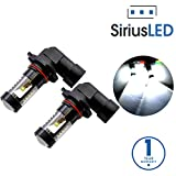 SiriusLED 9005 9145 H10 Size Projection LED Super Bright 30W 6000K White Fog Light DRL Bulb Pack of 2