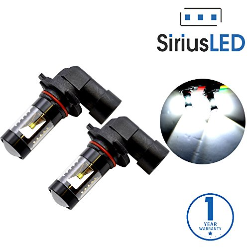 SiriusLED 9005 9145 H10 Size Projection LED Super Bright 30W 6000K White Fog Light DRL Bulb Pack of 2 (Led Fog Light Bulb 9140 compare prices)