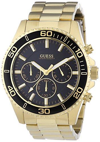 Guess  - Reloj de cuarzo para hombre, con correa de acero inoxidable, color dorado