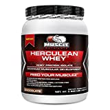 Herculean Whey Protein Isolate Powder Chocolate - Lactose-Free, Fat-Free, Cholesterol-Free, Low Sodium, Low Sugar, Only 2g Carbs Per Serving. 13 grams of BCAAs Per Serving. Fastest Digesting Protein Form. Are You Getting Enough Protein In Your Diet? Take 20 PRE-Workout -- 40g within 60 mins POST-Workout -- 20-40g EVERY MORNING. 26 Grams of Protein Per Serving. Order Today. LOVE IT or YOUR MONEY BACK. (Chocolate, 420 Grams (.925 lb))